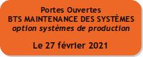 Journée Portes Ouvertes : BTS Maintenance des Systèmes